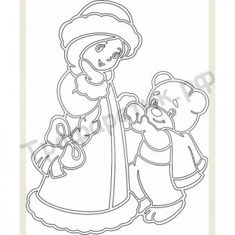 Снегурочка с мишкой