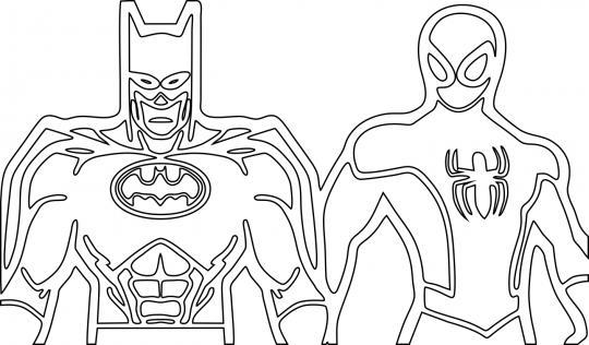 Бэтмен и человек-паук